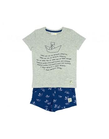 Conjunto Infantil-Paper Boats-Waterlemon