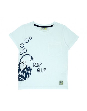Camiseta Infantil-Flashlight Fish-Waterlemon