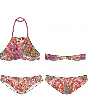 Bikini Top Niña-Cachemir-Trinidad Bora Bora