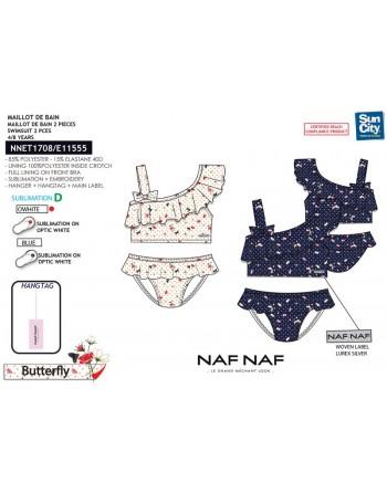 Bikini Top Niña-Flor/Puntos-Naf Naf