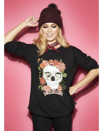 SUDADERA MUJER TOO LATE SW...