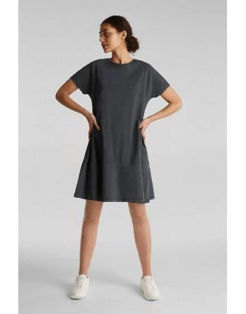 Vestido M/C-Volante-Esprit