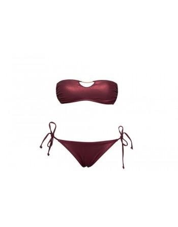 Bikini Bandeau-Piel...